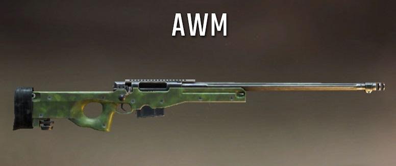 اسلحه AWM بازی پابجی موبایل