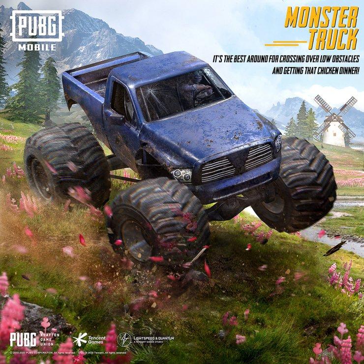 راهنمای کامل monster truck بازی پابجی موبایل