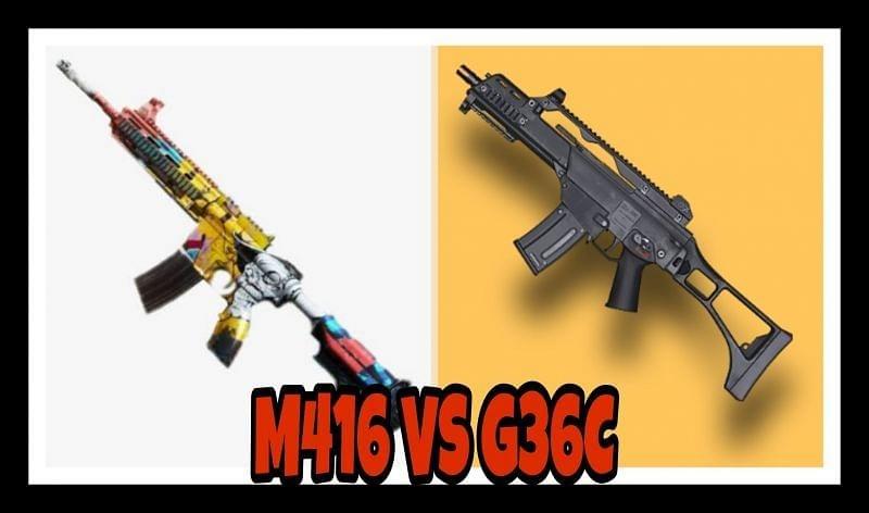 بررسی سلاح های m416 و G36C