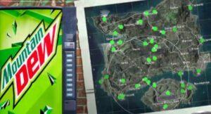 mountain dew در بازی pubg mobile
