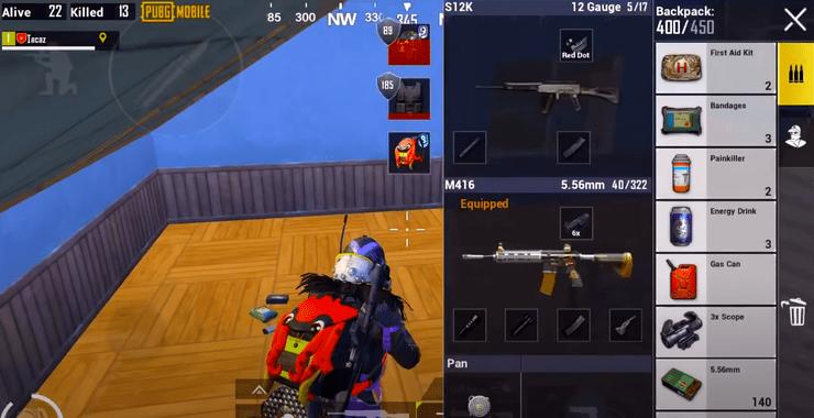 آموزش استفاده از اسلحه M416 و اسکوپ ۶ در بازی پابجی موبایل