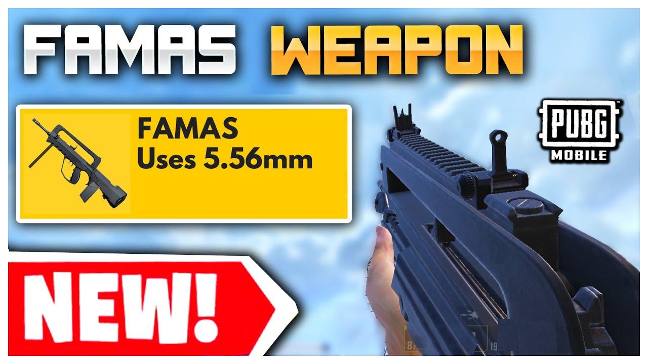 معرفی اسلحه جدید FAMAS در بازی پابجی موبایل