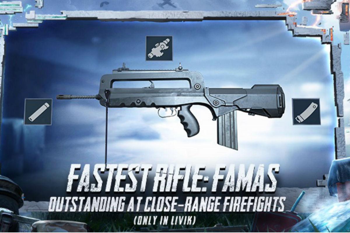 آنچه که باید درباره اسلحه FAMAS در بازی پابجی موبایل بدانید
