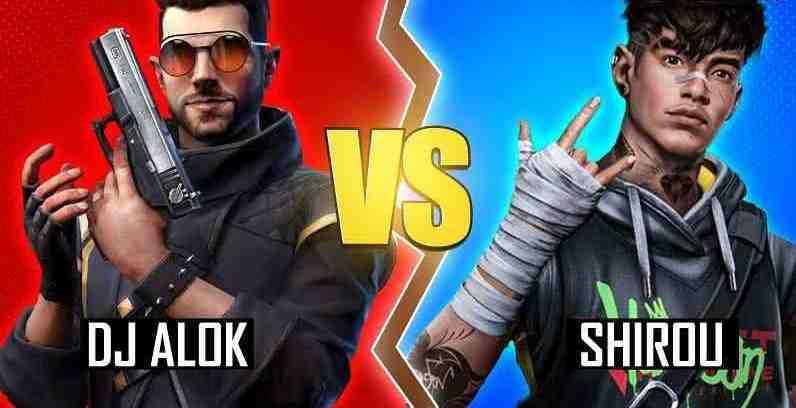 مقایسه کاراکترshirou و alok در بازی فری فایر Free Fire