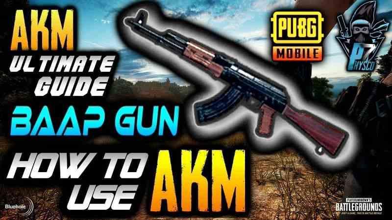 چگونه از اسلحه AKM در بازی پابجی موبایل استفاده کنیم