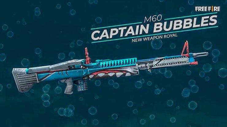 سلاح M60 بازی فری فایر کلش اسکواد