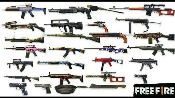 بهترین سلاح های برد نزدیک بازی فری فایر Free Fire