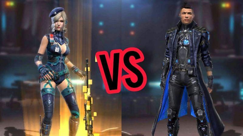 مقایسه دو کاراکتر Chrono و Laura در بازی فری فایر