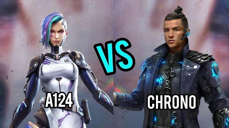 مقایسه کاراکتر Chrono و A124 در بازی فری فایر Free Fire